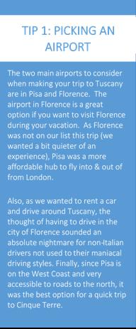 Tip 1 picking an airport